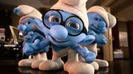 Gutsy, Brainy and Grouchy Smurf in