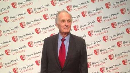 Alan Alda arrives at Stony Brook University's annual