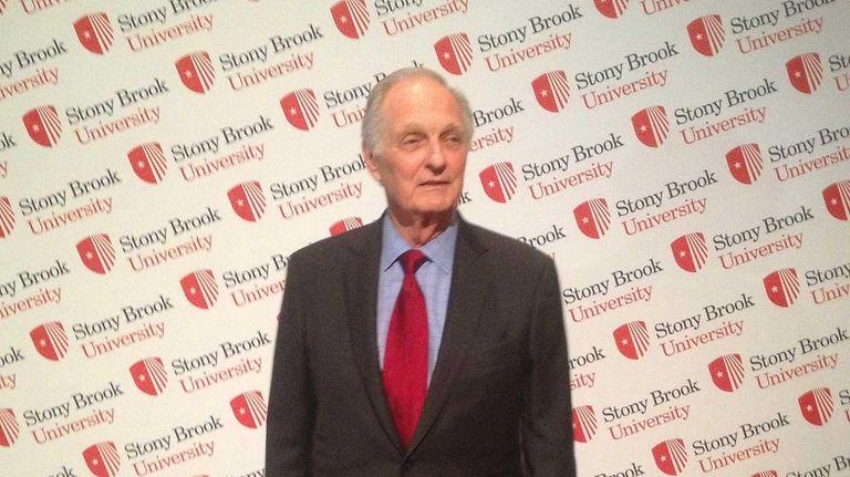 Alan Alda arrives at Stony Brook University's annual