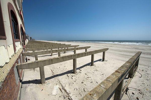 The Long Beach boardwalk is still untouched six