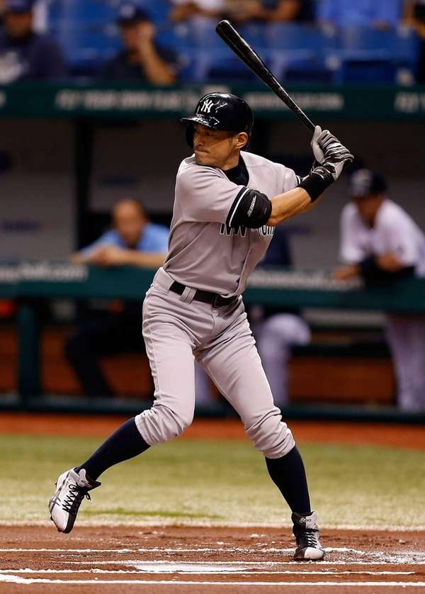 Ichiro Suzuki bats during a game against the