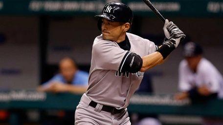 Ichiro Suzuki bats during a game against the