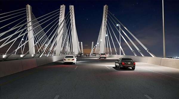 An artist rendering of the proposed Goethals Bridge