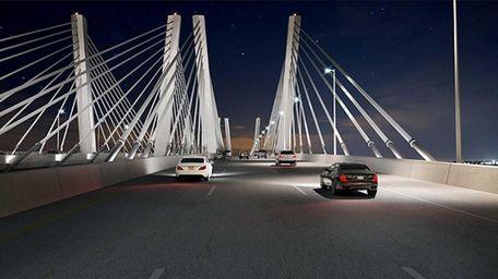 An artist rendering of the proposed Goethals Bridge