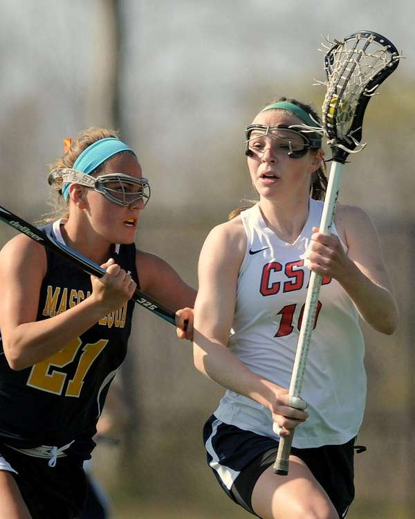 Cold Spring Harbor's Katherine Rueger pressured by Massapequa's