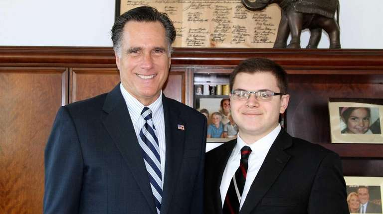 Adam Savader with Mitt Romney in an undated