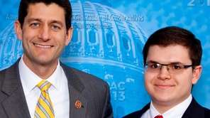 Adam Savader, right, with U.S. Congressman Paul Ryan