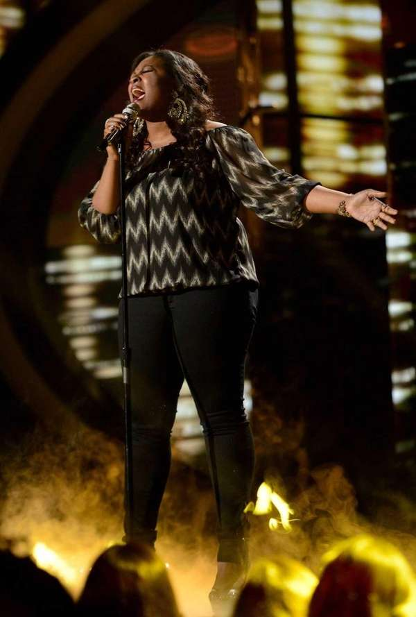 """American Idol"" contestant Candice Glover performs a jazz-infused"