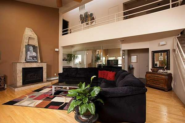 The Contemporary-style home at 835 Anthony Dr. in