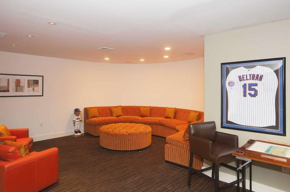 One of the rooms in Carlos Beltran's home,