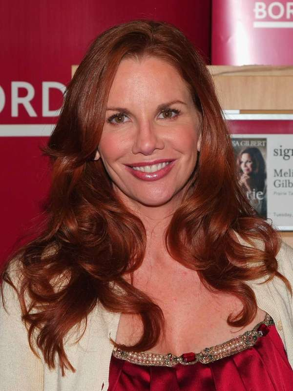 Melissa Gilbert signs her book