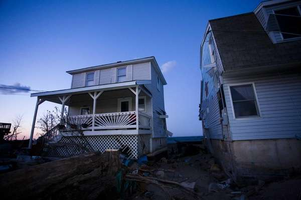 The floodwaters of superstorm Sandy damaged homes on