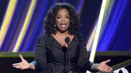 Oprah Winfrey speaks at the 28th Annual Rock