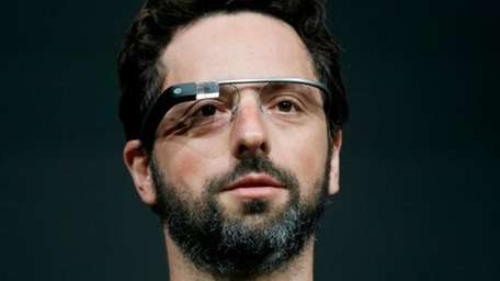 Sergey Brin, co-founder of Google demonstrates Google Glass