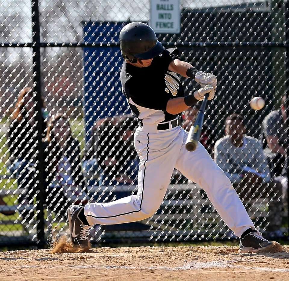 Commack's Joe Baltera gets a single in a