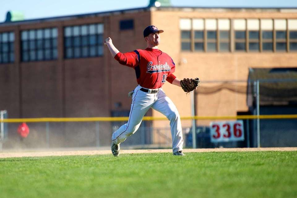 MacArthur third baseman Tom Kelleher (10) makes the