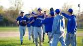 Calhoun center fielder Tommy Joannou (15) celebrates with