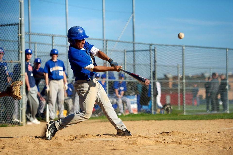 Calhoun's Andrew Cordova (4) drives the ball in