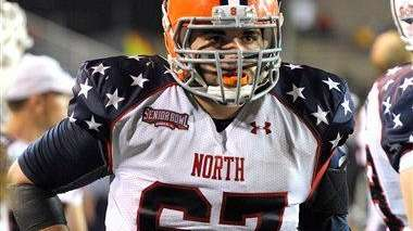 Senior Bowl North Squad offensive lineman Justin Pugh