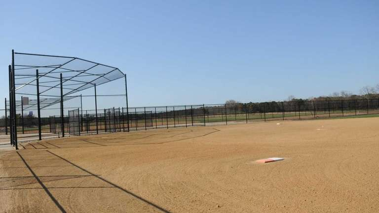 One of new ballfields, a softball field, at