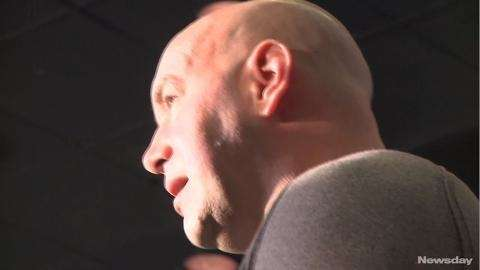 In the UFC 159 pre-fight media scrum at the Theater at Madison Square Garden, UFC president Dana White talks about the fight to legalize MMA in New York, the politics of it all, welterweight champion Georges St-Pierre and more. Videojournalist: Casey Musarra. (April 25, 2013)