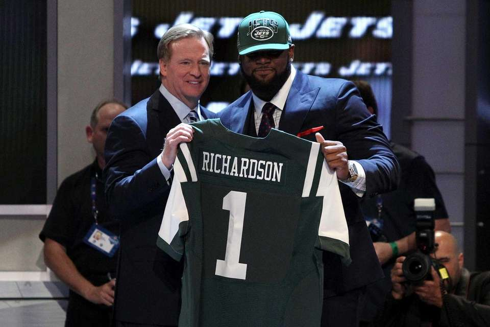 Sheldon Richardson of the Missouri Tigers stands with