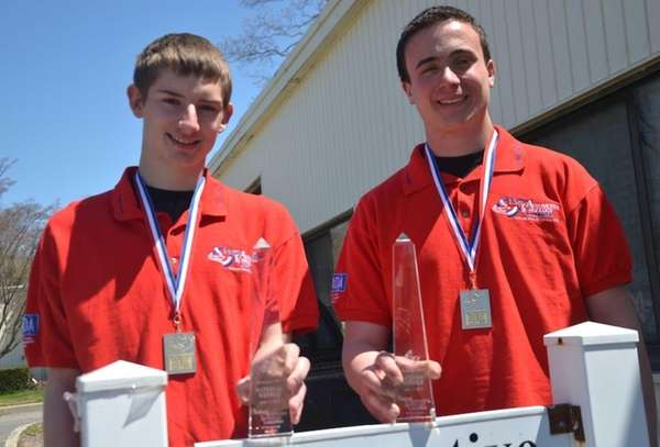 From left, Eastern Suffolk BOCES Automotive Technology students