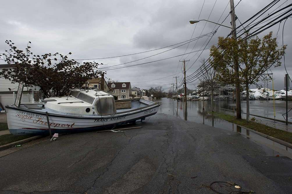 The powerful floodwaters of superstorm Sandy moved the