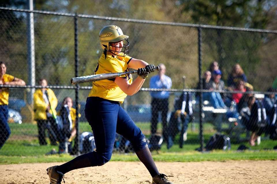 Jericho third baseman Lianne Condon swings at a