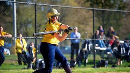 Jericho third baseman Lianne Condon swings at a