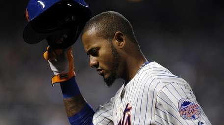 Mets center fielder Jordany Valdespin returns to the
