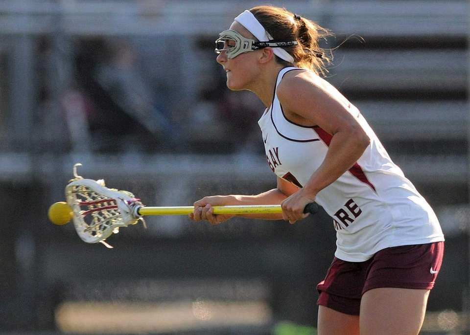 Bay Shore's Amanda Voges takes a free position