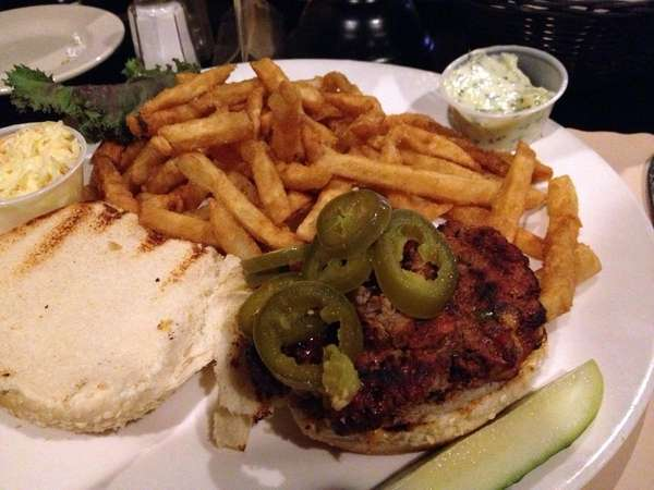 The Gian burger at Sal's Place in North