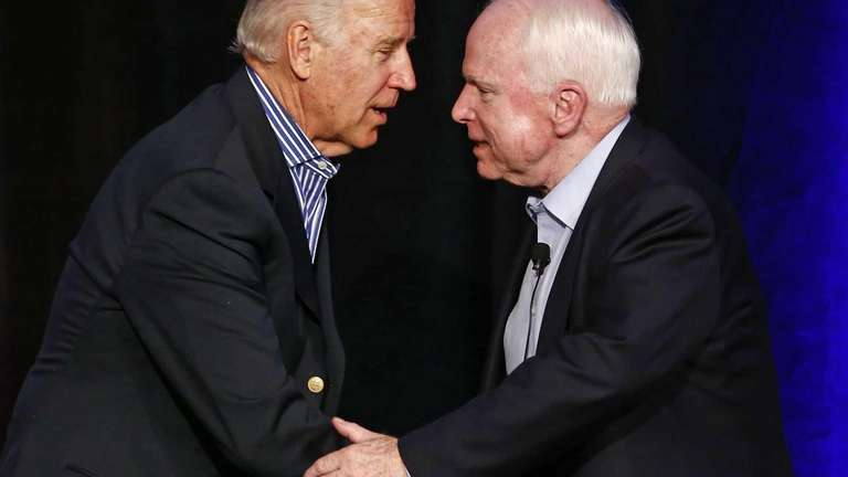 Vice President Joe Biden and Sen. John McCain,
