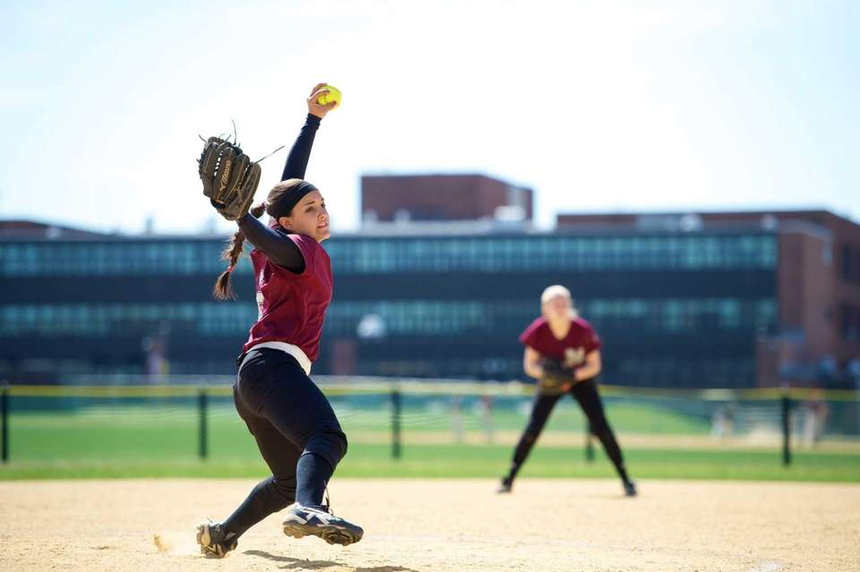 Mepham pitcher Tonimarie Valerano pitches in a game