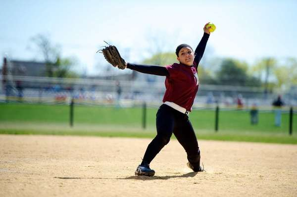 Mepham pitcher Tonimarie Valeriano pitches in a game