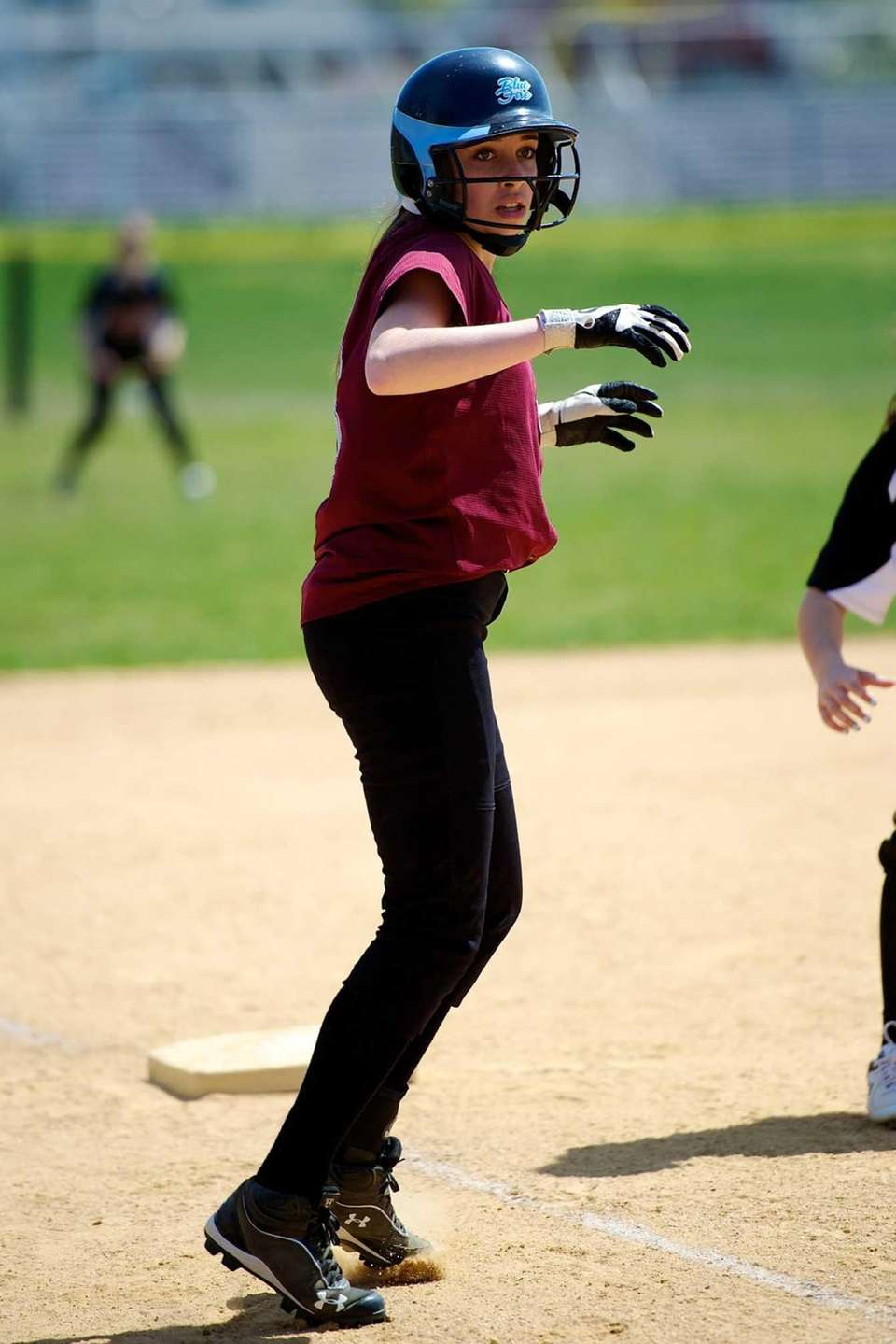 Mepham first baseman Nicole Moccio is set to