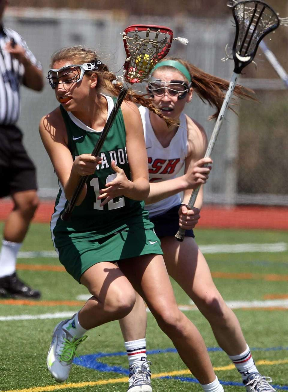Harborfields' Carli Clemente controls the ball. (April 27,