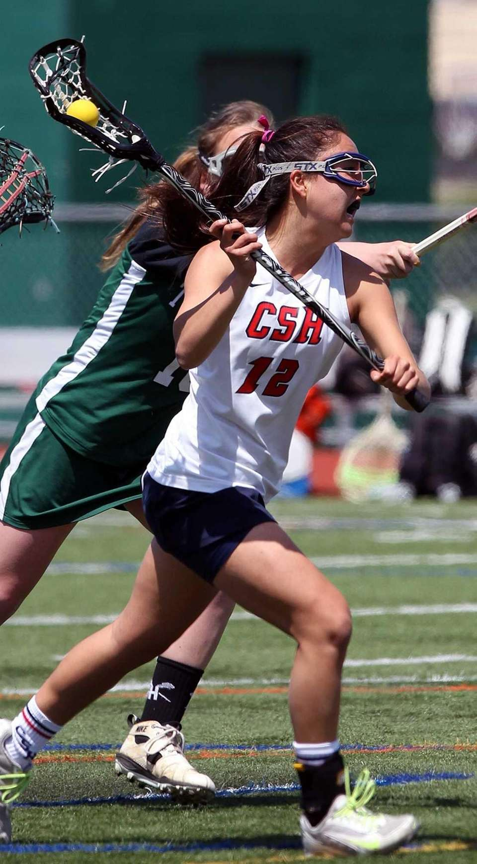 Cold Spring Harbor's Holly Logan fires a shot.