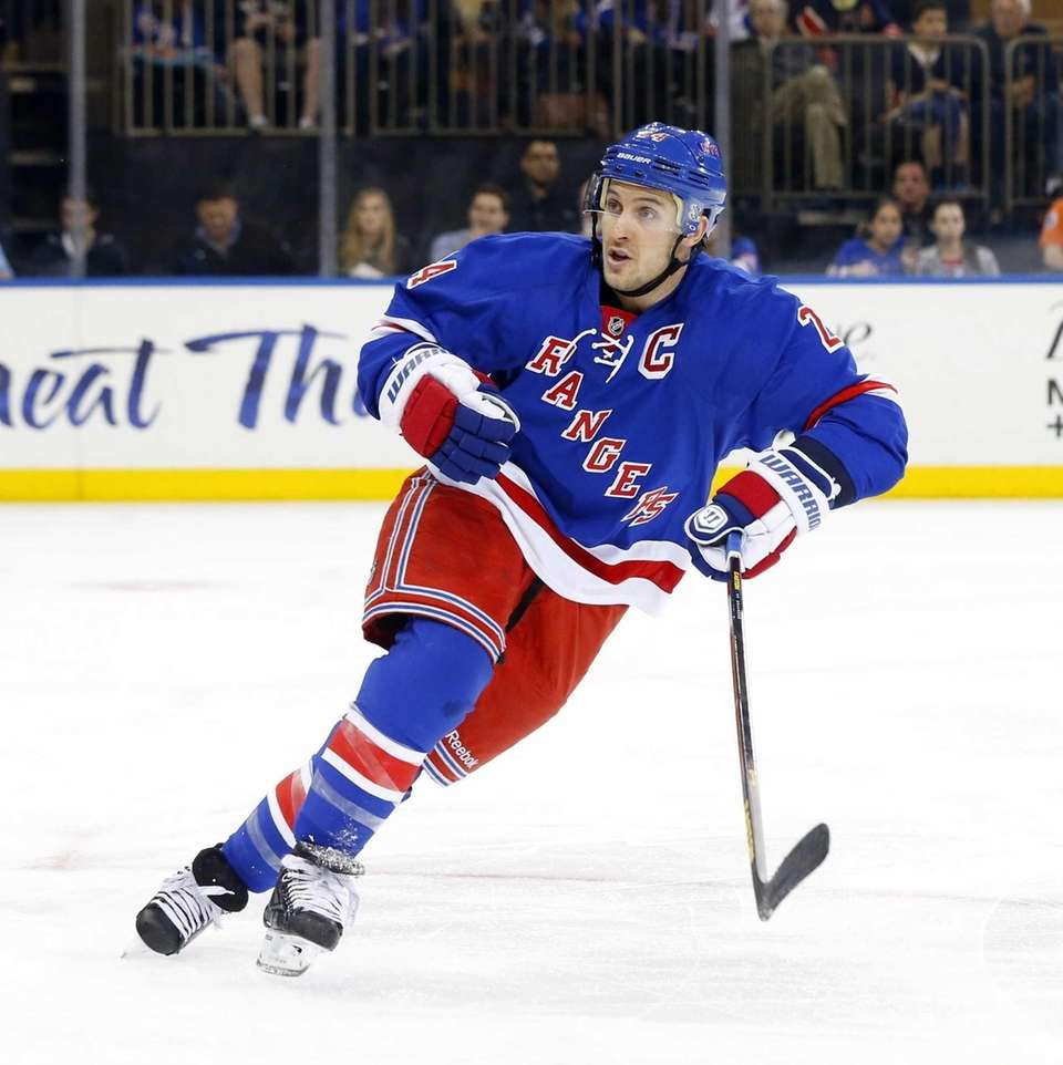 Ryan Callahan of the Rangers skates against the