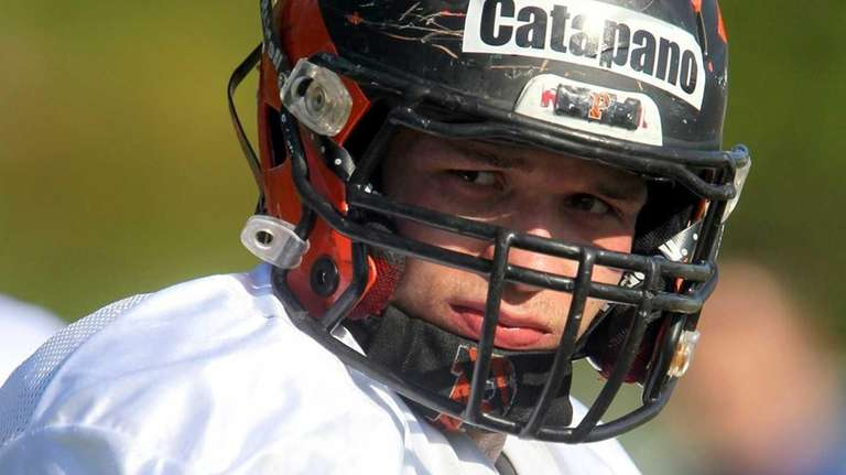 Princeton's Mike Catapano listens to instructions during the