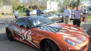 A special edition 50th-anniversary Ferrari visited the Ronald