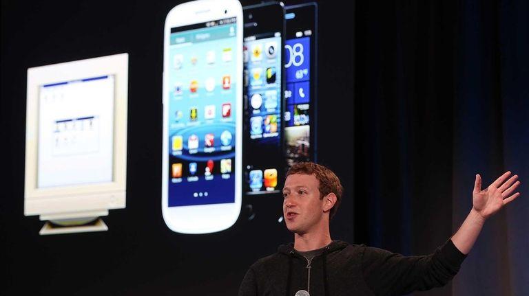 Facebook chief executive Mark Zuckerberg reaped a gain