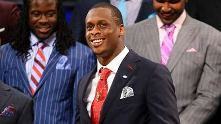 Geno Smith at the 2013 NFL Draft. (Getty