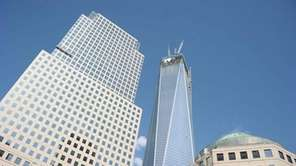One World Trade Center in lower Manhattan.
