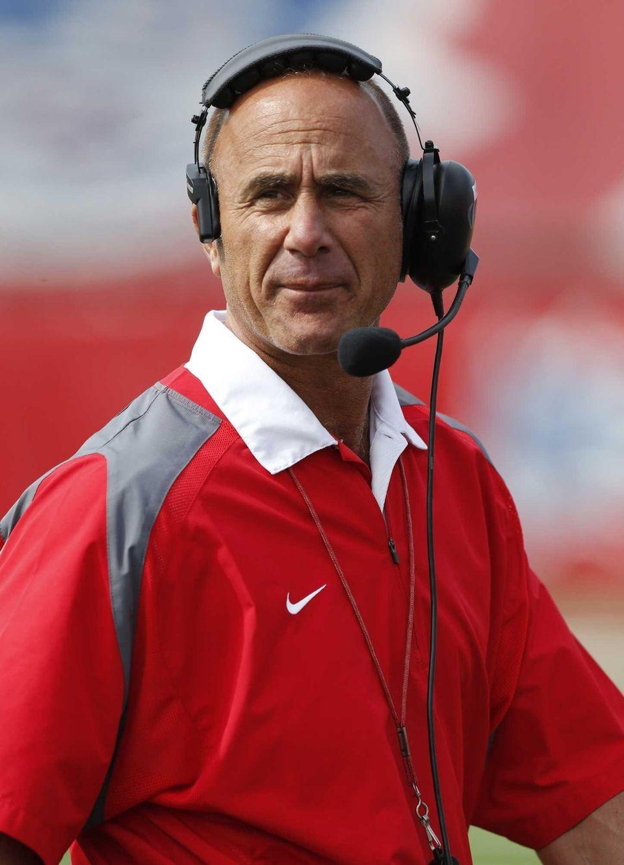 Stony Brook head football coach Chuck Priore looks