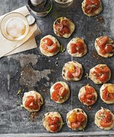 The Roasted Cherry Tomato Pizza Poppers recipe can