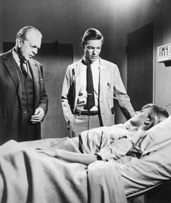 From left, Raymond Massey as Dr. Gillespie and