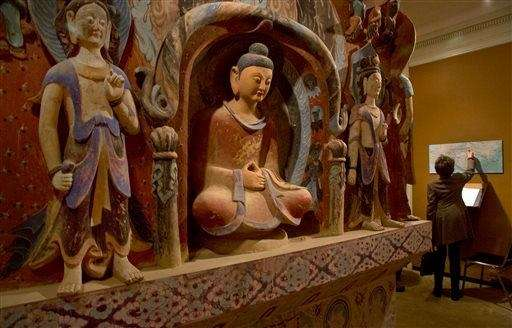 The central pillar of Mogao Cave 432, from