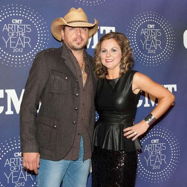 Jason Aldean and Jessica Ussery Aldean attend the